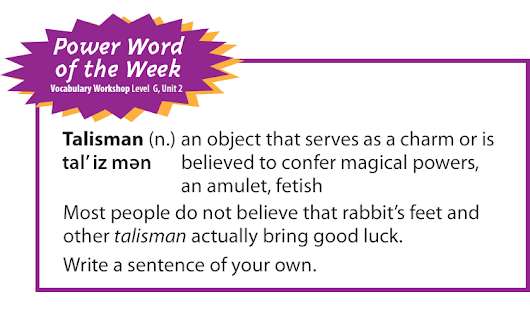 Power Word of the Week: Talisman