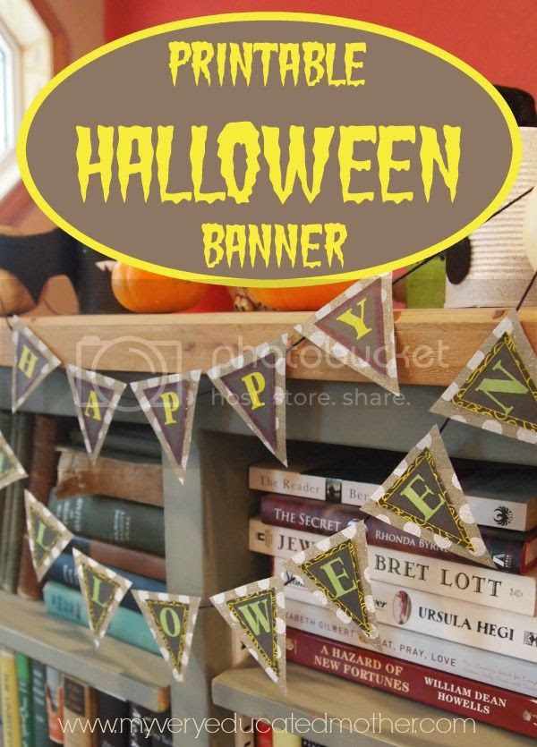#Halloween Banner #printable #DIYdecor #holidays