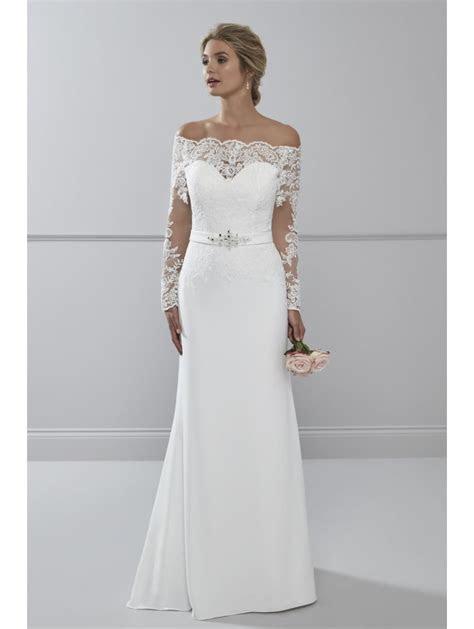 Romantica Lourdes Soft Crepe Wedding Dress With Sleeves