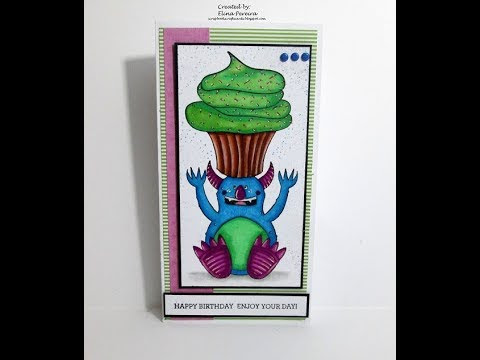 """Monster Wishes"" Colorinng & Card Making Tutorial feat. Bo Bunny!"