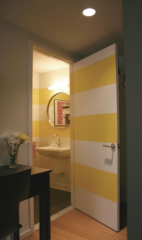 Loft Living modern powder room