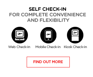 Self check-in for complete convenience and flexibility