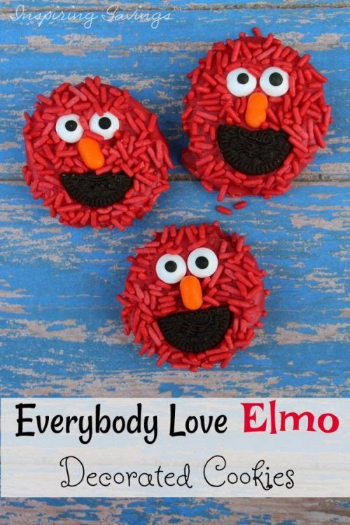 Easy To Make Everybody Love Elmo Decorated Cookies