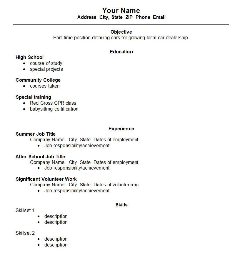 sample resume  june 2015