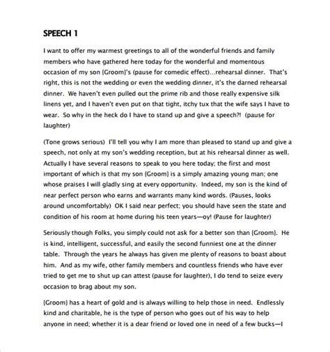 sample wedding speech    documents