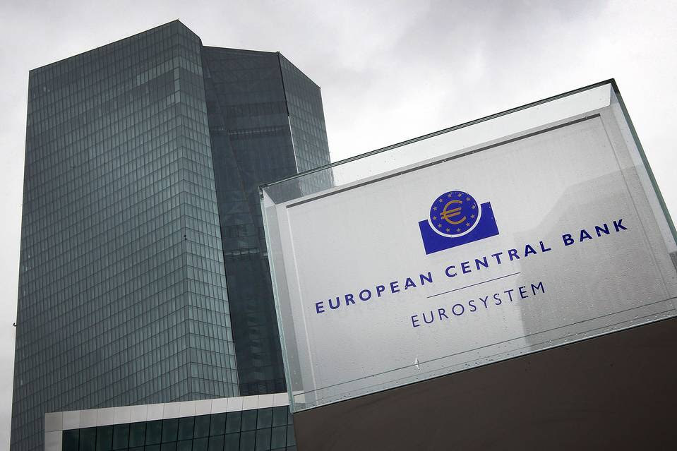 The European Central Bank's headquarters in Frankfurt.