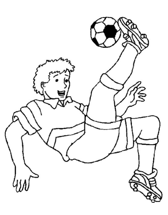 Disegni Da Colorare Di Bambini Che Giocano A Calcio Coloradisegni