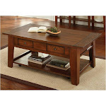 Steve Silver DeSoto Oak Cocktail Table with Casters