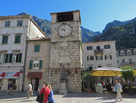 Kotor City Clock Tower - a City Landmark