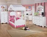 Kids Bedroom Furniture Set With Ashley Exquisite While Canopy ...