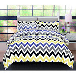 Baltic Linen 120 GSM Microfiber Bedding Set - Queen Chevron