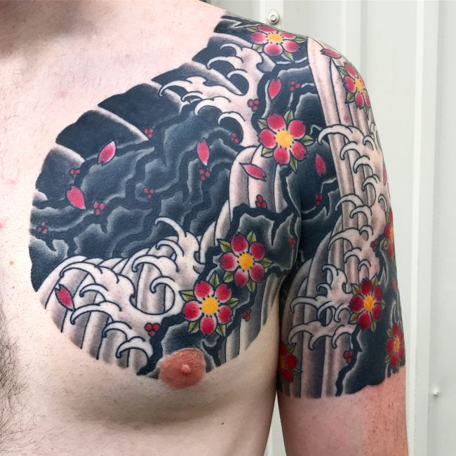 75 Best Japanese Cherry Blossom Tattoo Designs Meanings 2019