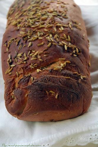 Pane di segale e semi di finocchio