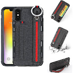 All in One Functional Case Compatible with iPhone X and iPhone XS - Stand, Holder, Storage, and Ring