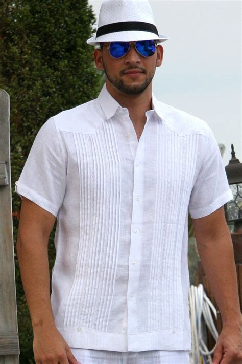 Guayabera Shirt, Linen, Chacavana, Beach Wedding shirt
