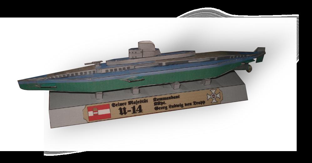 SM U-14 Submarine Papercraft