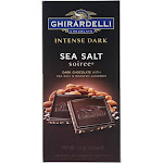 Ghirardelli Dark Bar Sea Salt Soiree Bars - Chocolate Intense - Case of 12 - 3.5 oz.