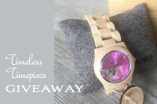 Julia's JORD Watch Giveaway - Just in Time for the New Year!