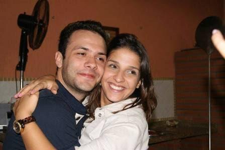 Ana Carolina Oliveira e o marido Vinicius Francomano