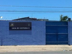 Casa de Custódia de Maceió (Foto: Michelle Farias/G1)