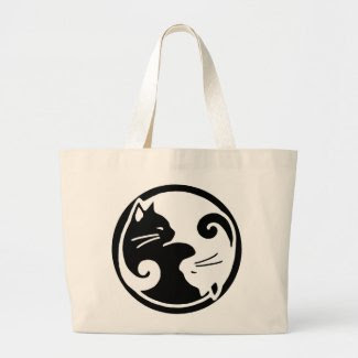 Yin Yang Cat / Tao of Meow Tote Bag