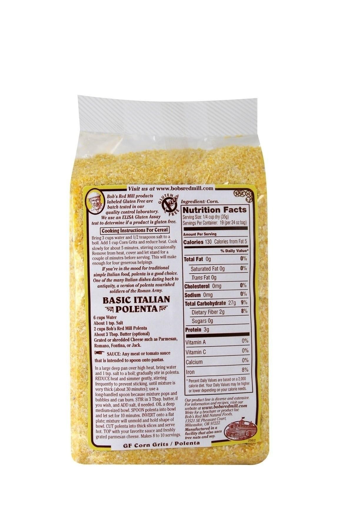Bob's Red Mill Gluten Free Corn Grits / Polenta 4/24oz ...