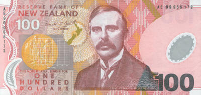 Rutherford 100 New Zeland Dollars