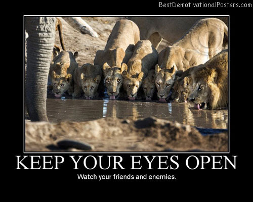 Keep Your Eyes Open Motivational Poster