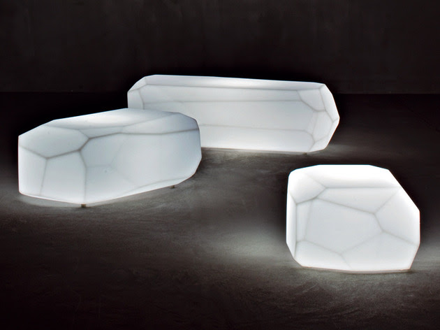 Translucent Polyethylene Seats, Poufs and Tables from Serralunga ...