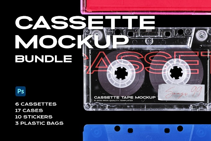 Creativemarket Cassette Tape Mockup Bundle Plastic 5312256