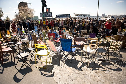 """""""1001 Chairs for Ai Weiwei"""" in NYC"""
