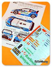 Calcas 1/24 Reji Model - Ford Fiesta WRC Barlinek - Nº 8 - Solowow + Baran - Rally de Suecia 2012 para kit de Belkits BEL-003