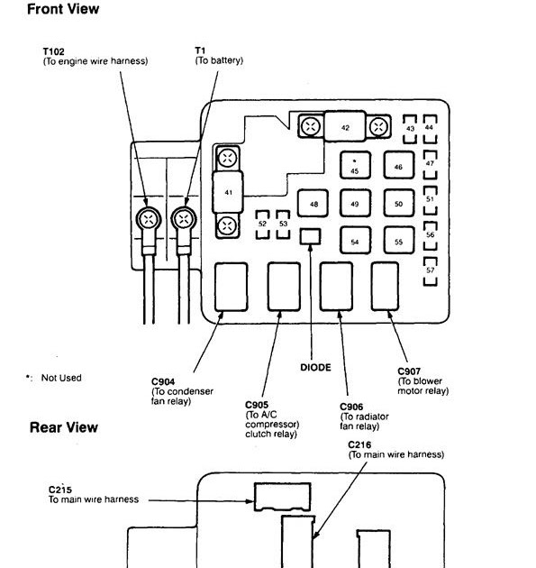 98 Acura Fuse Box - Wiring Diagram Networks
