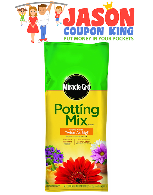 Print this $2 coupon for Miracle Grow Potting Soil
