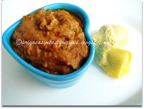 Artichoke & Curry leaves chutney