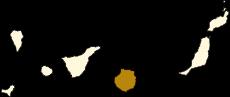 Mapa de situación de la isla de Gran Canaria