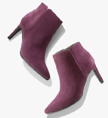 The velvety purple womenboots -6