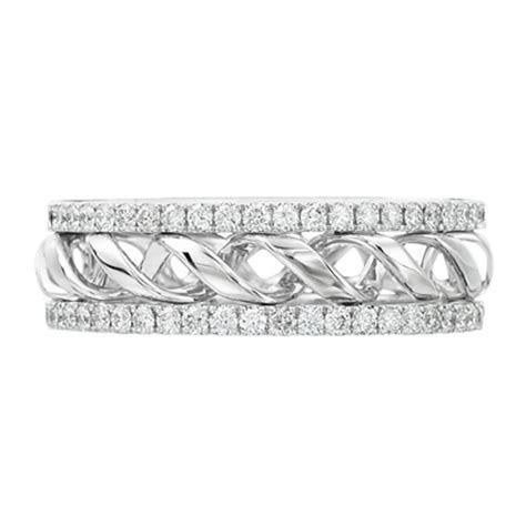 Wedding Band   Round Diamond Double Helix Eternity Wedding
