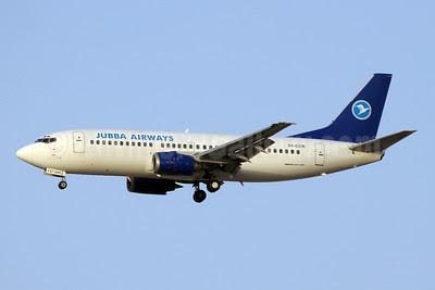 Jubba Airways Boeing 737-3Z0 5Y-CCR (man 27521) DXB (Paul Denton). Image: 922163.