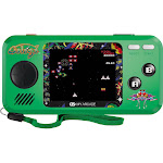 My Arcade Galaga Pocket Player - Collectible Handheld Console with 3 Games, Green