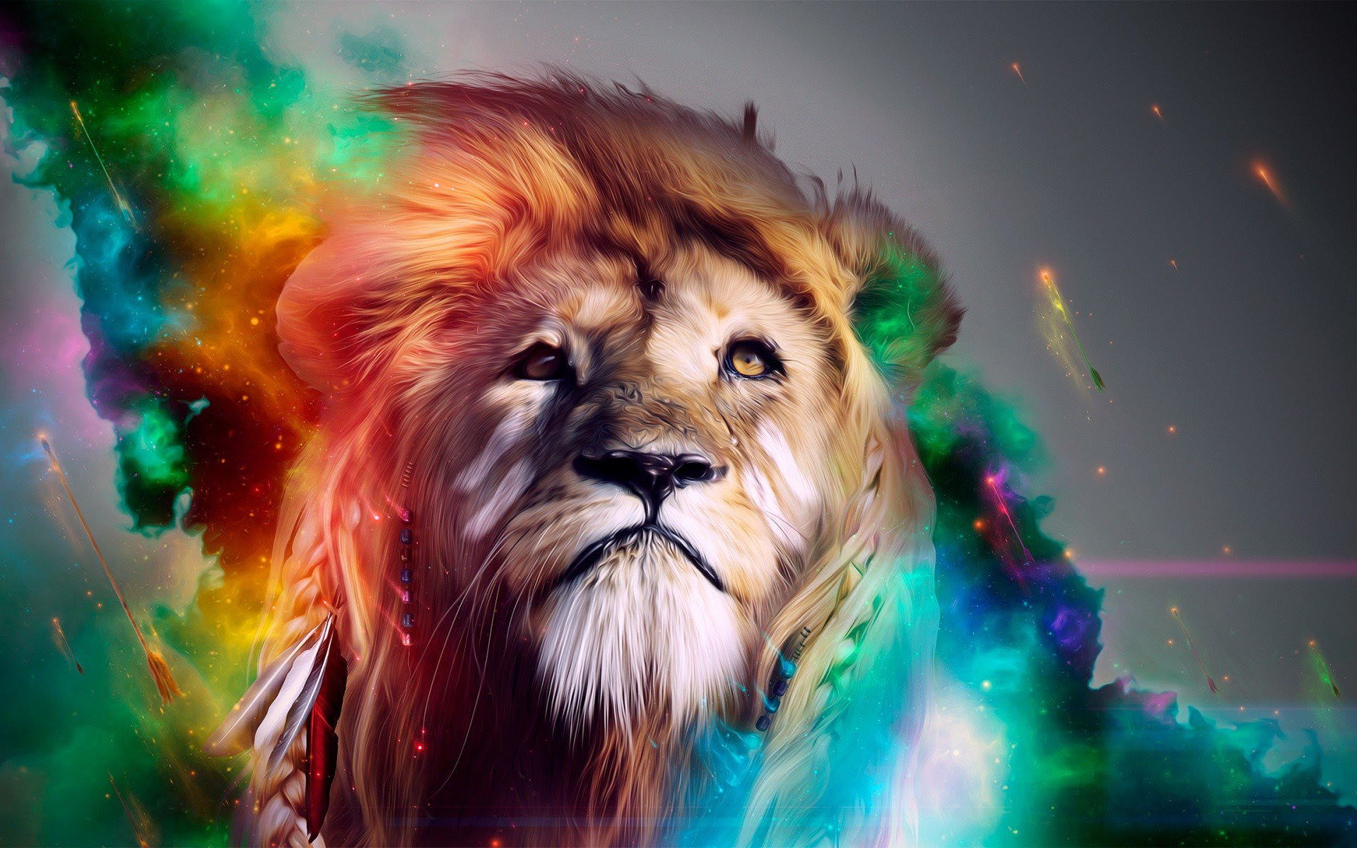 Lion Abstract 4k, HD Abstract, 4k Wallpapers, Images ...