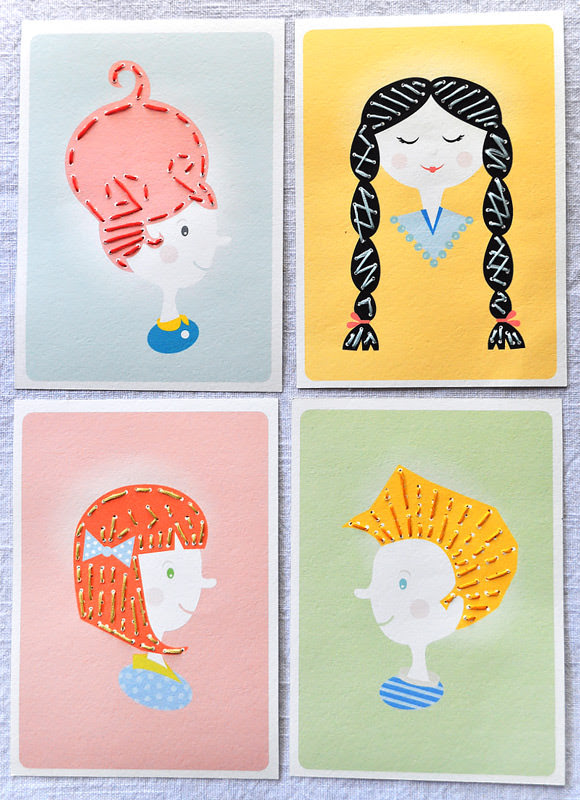 DIY Tarjetas imprimibles de coser para niños