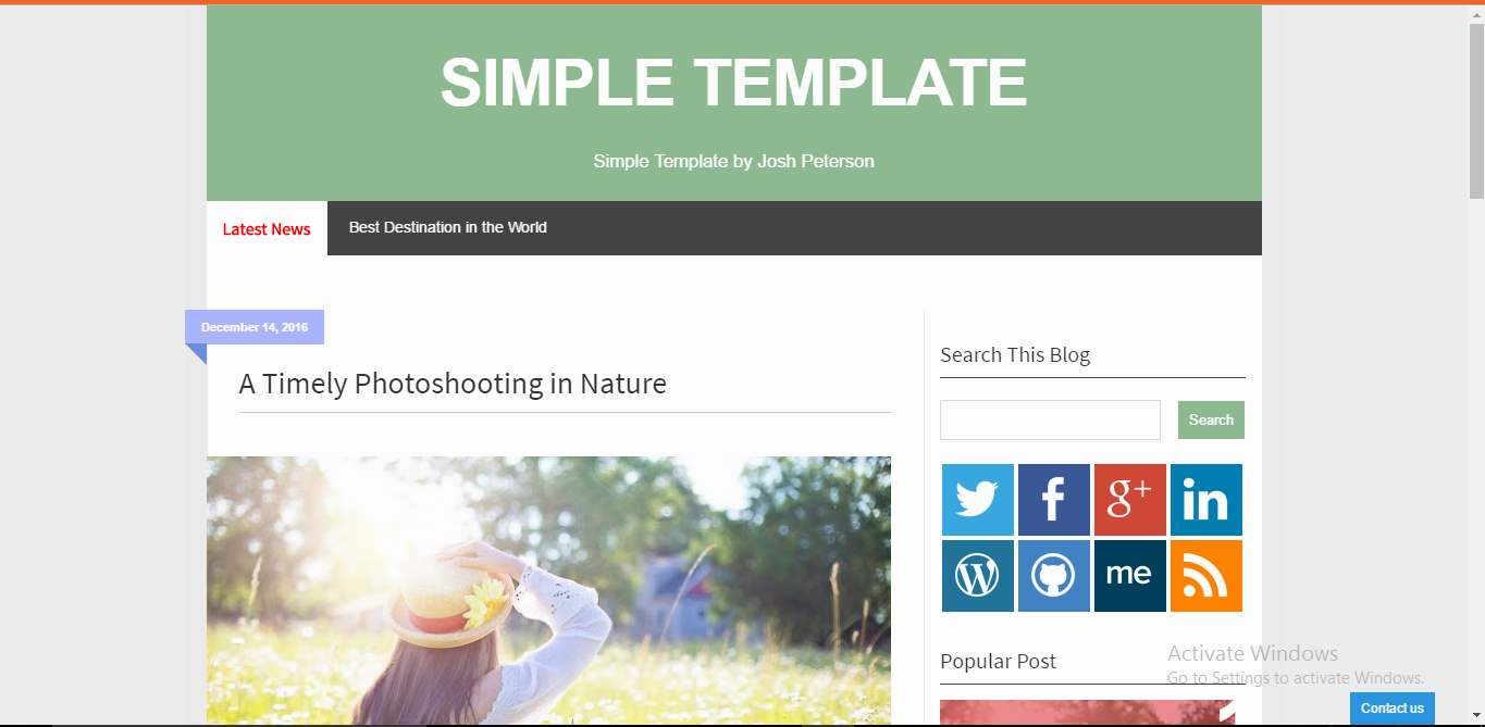 Simple Blogger Template
