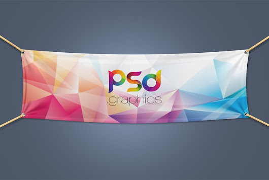 Textile Fabric Banner Mockup Free PSD | PSD Graphics
