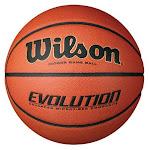 "Wilson Evolution Indoor Game Basketball, Orange, 29.5 """