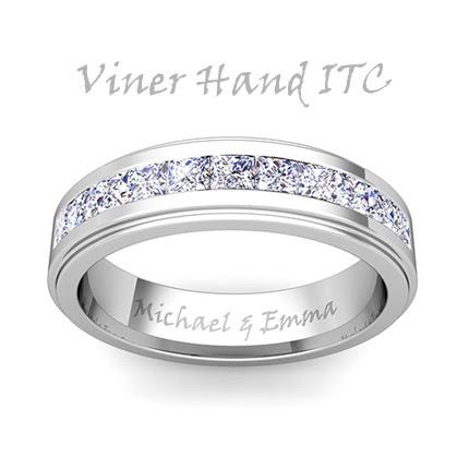 Wedding ring engraving ideas for him