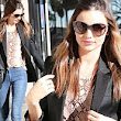 Supermodel Miranda Kerr nails her look in skinny jeans as she heads to salon for some pampering