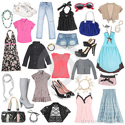 http://thumbs.dreamstime.com/x/different-female-clothes-shoes-accessories-14625699.jpg