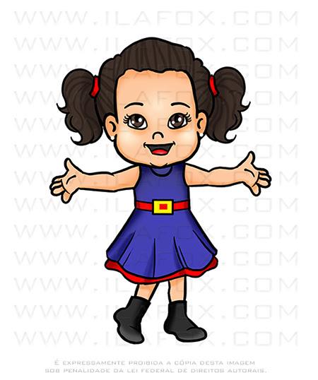 caricatura desenho, caricatura infantil, caricatura digital, caricatura show da Luna, by ila fox