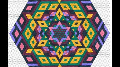 hexagon mandala triangle graph paper drawing tiffany